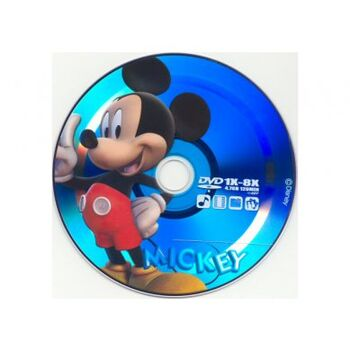 DVD-R 8X VIRGEN MICKEY 4.7GB TARRINA 10U