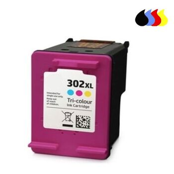 TINTA COLOR HP Nº. 302XL RECICLADA