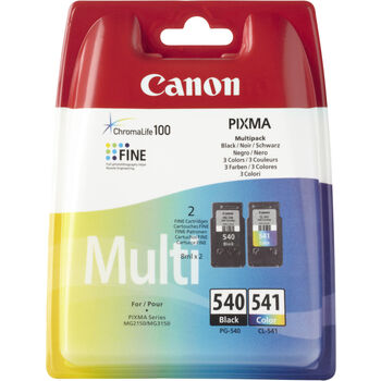 TINTA CANON KIT PG-540 NEGRO + PG-541 COLOR 8ML