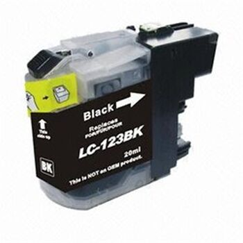 TINTA NEGRA BROTHER LC123N RECICLADO