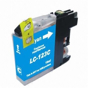 TINTA CIAN BROTHER LC123N RECICLADO