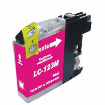 TINTA MAGENTA BROTHER LC123N RECICLADO