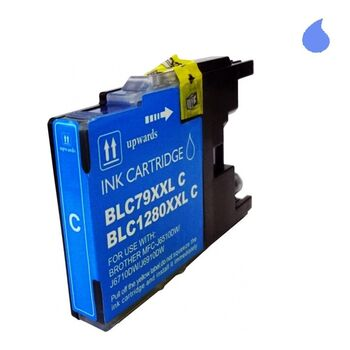 TINTA BROTHER LC1220/1240 XL CIAN RECICLADA