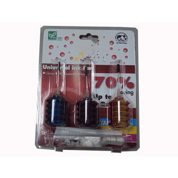 RECARGA TINTA COLOR 3x JERINGUILLA x25ml SATYCON