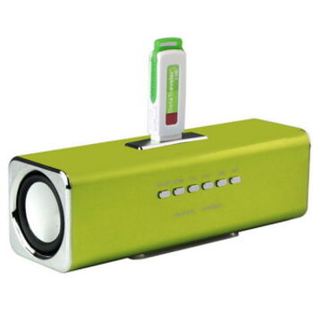 ALTAVOCES STEREO MP3 CUBE2 VERDES