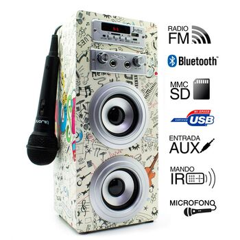 ALTAVOCES JOYBOX BLUETOOTH GUITAR 2.0 KARAOKE