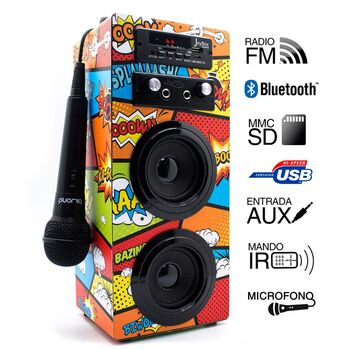 ALTAVOCES JOYBOX BLUETOOTH COMIC 2.0 KARAOKE