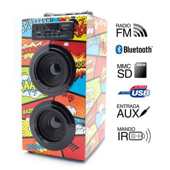 ALTAVOCES JOYBOX BLUETOOTH COMIC BIWOND 2.0
