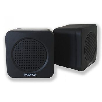 ALTAVOCES STEREO 2.0 APPROX APPSPAE USB 5W NEGROS