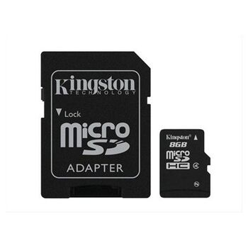 MEMORIA MICROSDHC C4 8GB KINGSTON + ADAPTADOR