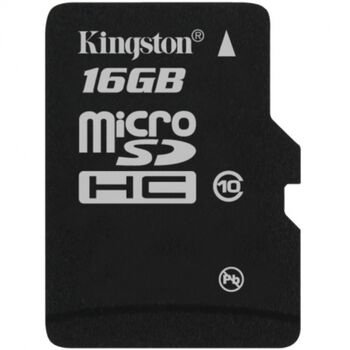 MEMORIA MICROSDHC C10 16GB KINGSTON CON ADAPTADOR
