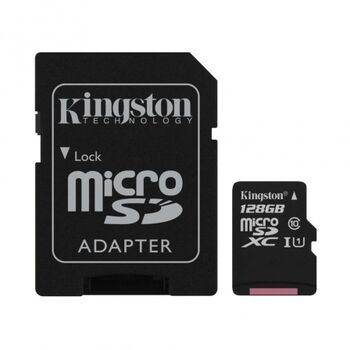 TARJETA MICROSDXC KINGSTON C10 128GB CON ADAPTADOR
