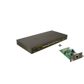 SWITCH GESTIONABLE D-LINK 24P DES-3026 + DEM-301T