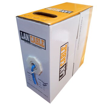 CABLE RED UTP RJ45 CAT6 CAJA 100M SATYCON AZUL