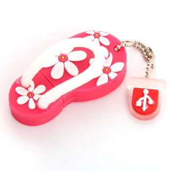 PENDRIVE USB2.0 32GB SATYCON CHANCLA ROSA M.1351