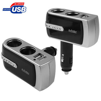 CARGADOR MECHERO COCHE DOBLE USB TWIN