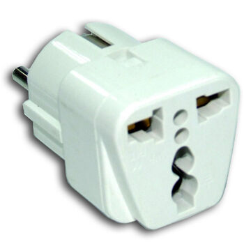 ADAPTADOR ENCHUFE CHINO/AMER./UK A EUROPEO SATYCON