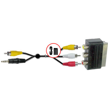 CABLE PC UNIVERSAL 3M RCA. JACK A EURO SATYCON