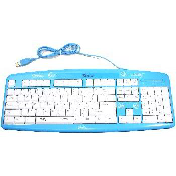 TECLADO USB KIDS AZUL - INGLES US
