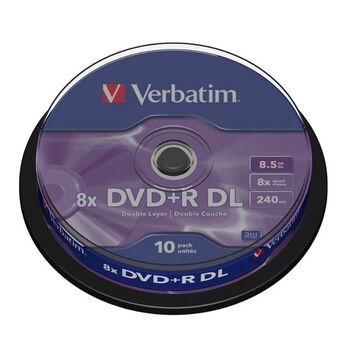 DVD+R DL DOBLE CAPA VERBATIM 8X 8.5GB 10U