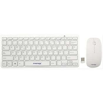 TECLADO Y RATON WIRELESS PRIMUX CW100 SLIM BLANCO