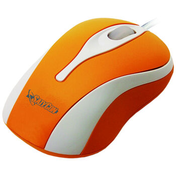 RATON USB OPTICO RUEDA SCROLL 3D NARANJA