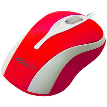 RATON USB OPTICO RUEDA SCROLL 3D ROJO