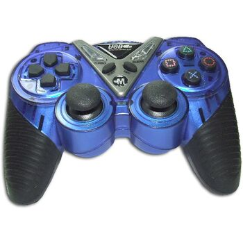 MANDO INALAMBRICO PC/PS2 ULTRADUAL AZUL/NEGRO