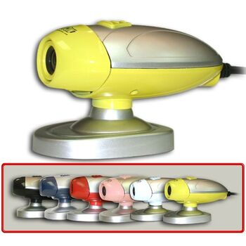 WEBCAM USB2.0 SATYCON OVNI 1.3 MPX AMARILLO SATYCO