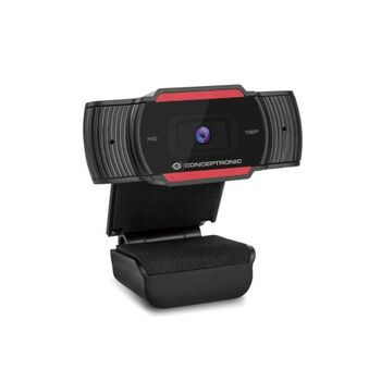 WEBCAM CONCEPTRONICS USB FULL HD CON MICROFONO W10