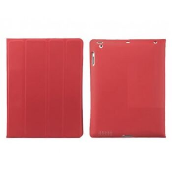 FUNDA DOBLE CARA IPAD2/3/4 FLEXIBLE ROJA SATYCON