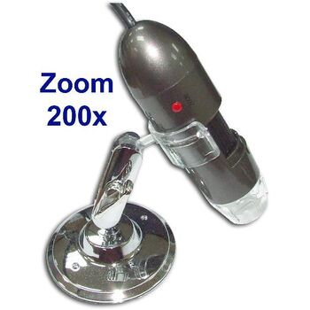 MICROSCOPIO DIGITAL USB 2.0Mpx ZOOM 200x US-202