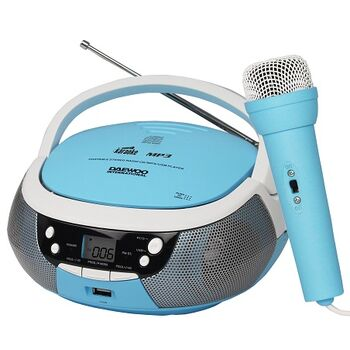 RADIO CD MP3 DAEWOO CON USB DBU-59 KARAOKE AZUL