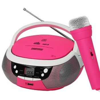 RADIO CD MP3 DAEWOO CON USB DBU-59 KARAOKE ROSA