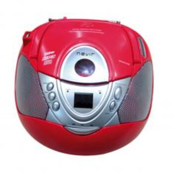 RADIO CD FM-AM MP3 PORTATIL NEVIR NVR-474U ROJO
