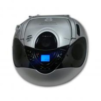 RADIO CD FM-AM MP3 PORTATIL NEVIR NVR-474U PLATA
