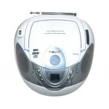 RADIO CD FM-AM MP3 PORTATIL NEVIR NVR-474U BLANCO