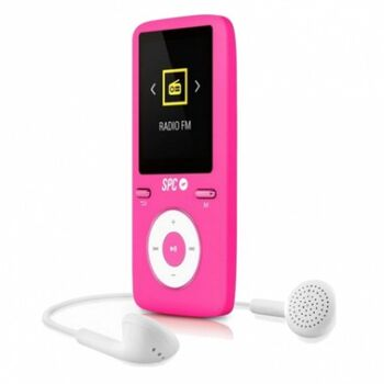 REPRODUCTOR MP4+FM 8GB SPC 8488P ROSA
