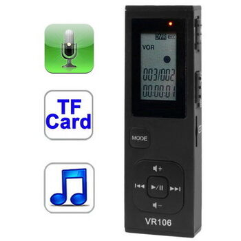 GRABADORA DE VOZ Y MP3 DIGITAL SATYCON 4GB MICROSD