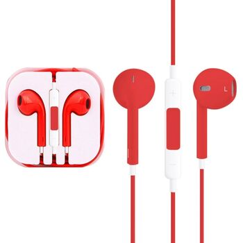 AURICULARES MANOS LIBRES IPHONE ANDROID ROJO